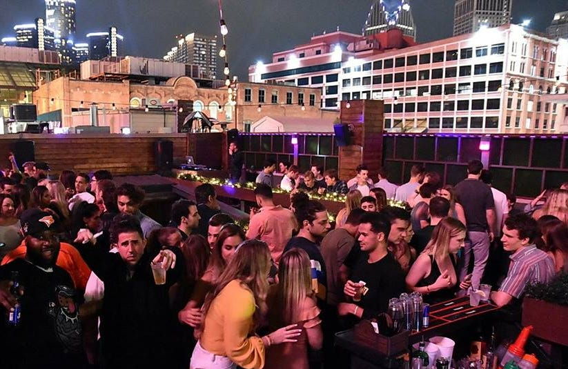 Level Two Bar & Rooftop in Detroit.