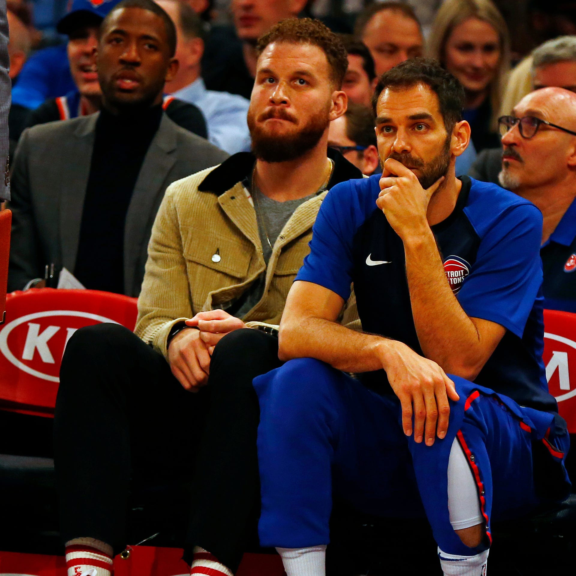 What's the status of Detroit Pistons' Blake Griffin (knee) entering playoffs?