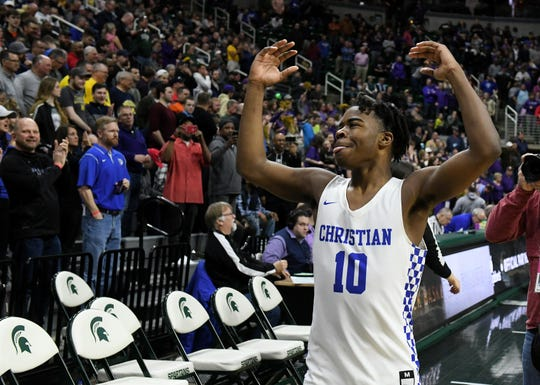 Southfield Christian guard Jon Sanders averaged 16.5 points per game this season.