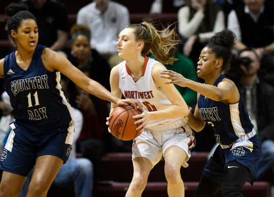 Jackson Northwest guard Sydney Shafer (20) averaged 19 points, eight rebounds, and four assists this season.