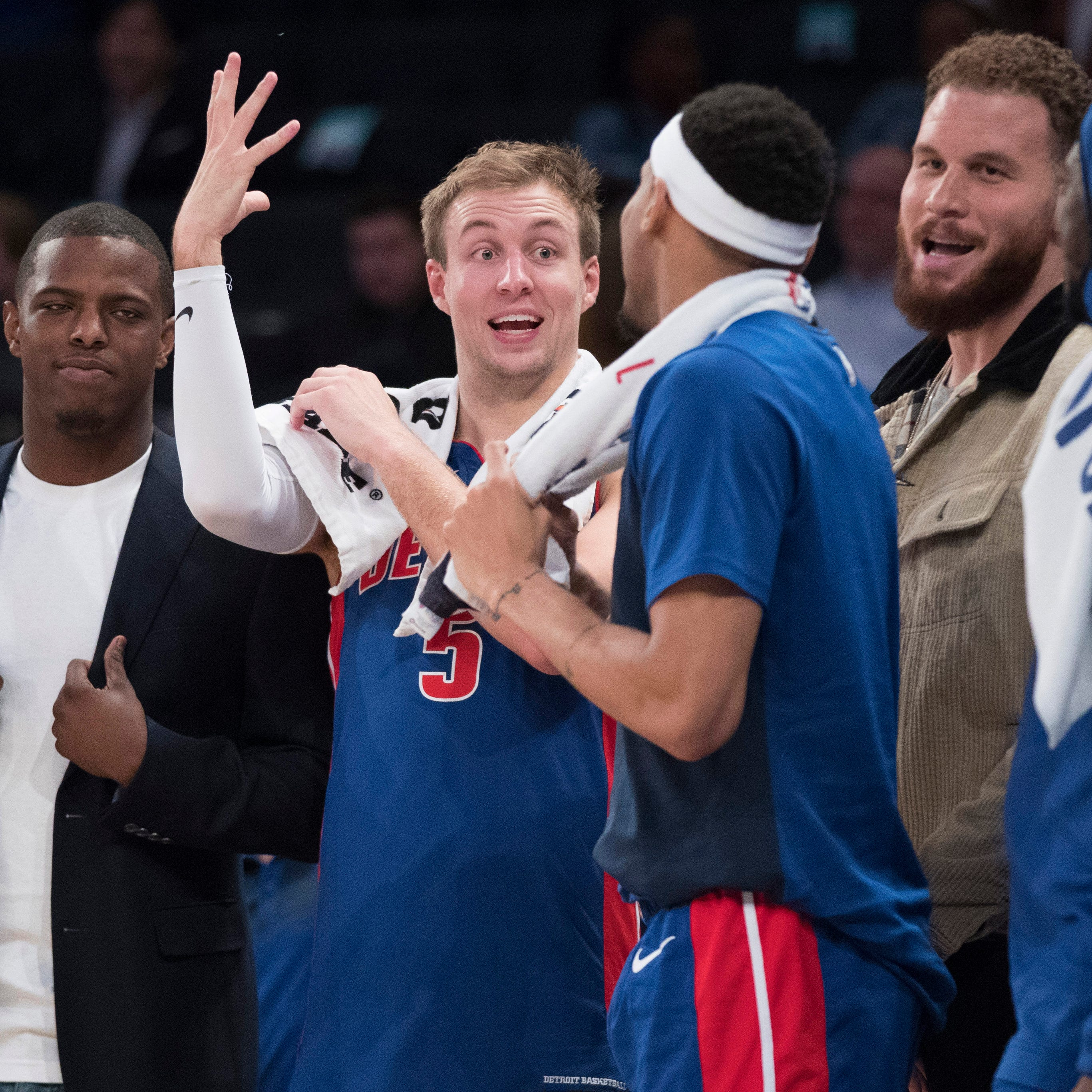 Pistons tone down celebration, open playoffs Sunday at Milwaukee