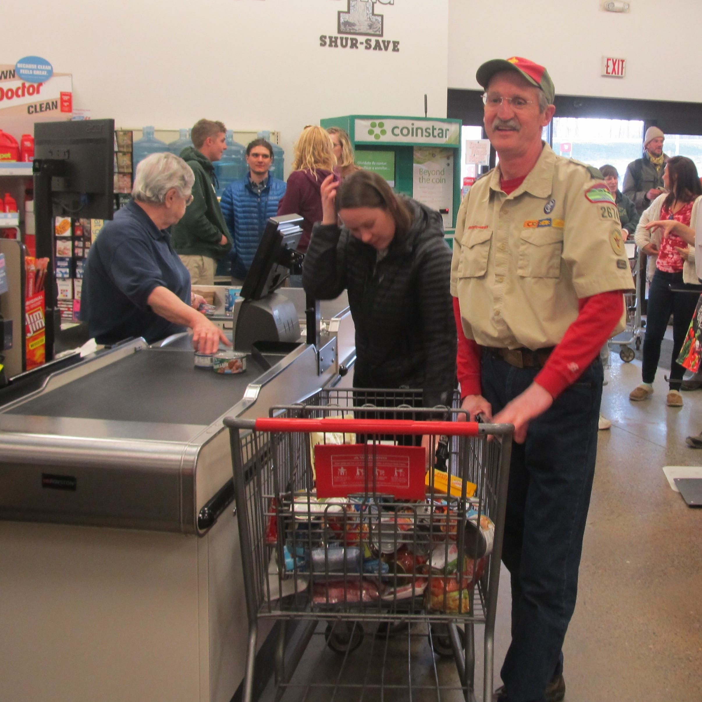 Seneca South: Schuyler County Boy Scout leader wins grocery shopping spree raffle