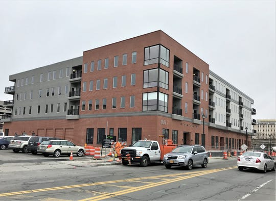 The upper three residential floors of a new anchor building in downtown Elmira are nearly ready for occupancy.
