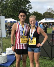 Aaron and Mary Dy are Harrison High School graduates who qualified for the Boston Marathon.