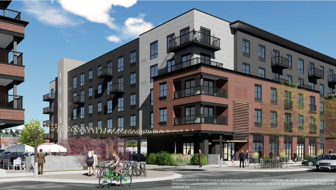 Chicago-based CA Ventures plans to build two five-story buildings to house 197 apartments at Willow and Pine streets in Fort Collins' Poudre River District.