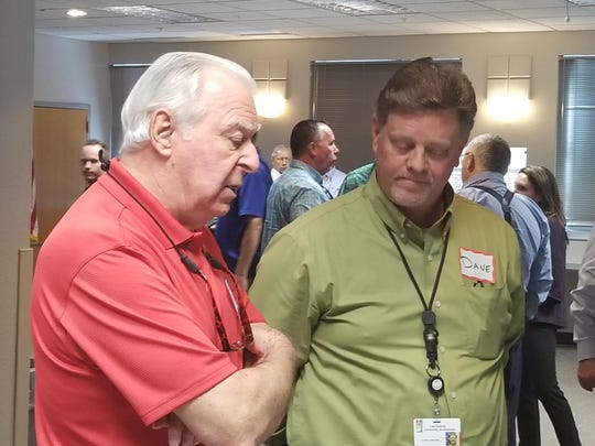 Bob King, transportation director of the Estero Council of Community Leaders and David Loveland, Lee County Community Development Director, discussed proposed mine rule changes.