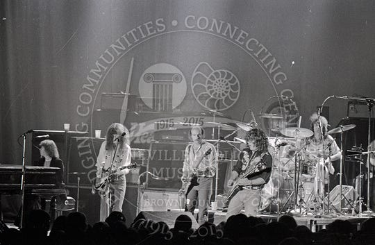 REO Speedwagon at the Brown County Veterans Memorial Arena on Oct. 28, 1976.