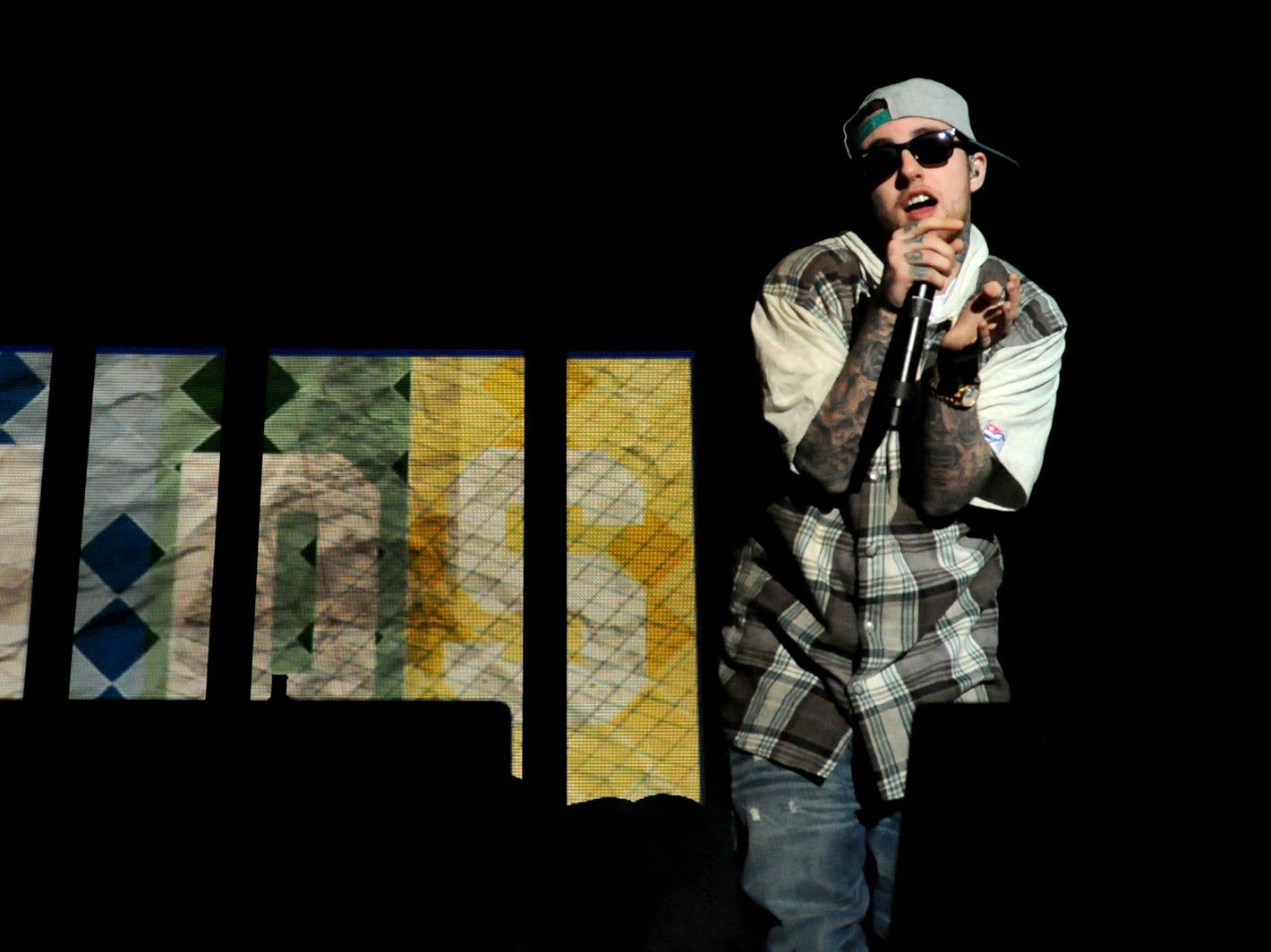 Hip-hop star Mac Miller performs at Brown County Veterans Memorial Arena on April 10, 2012.
