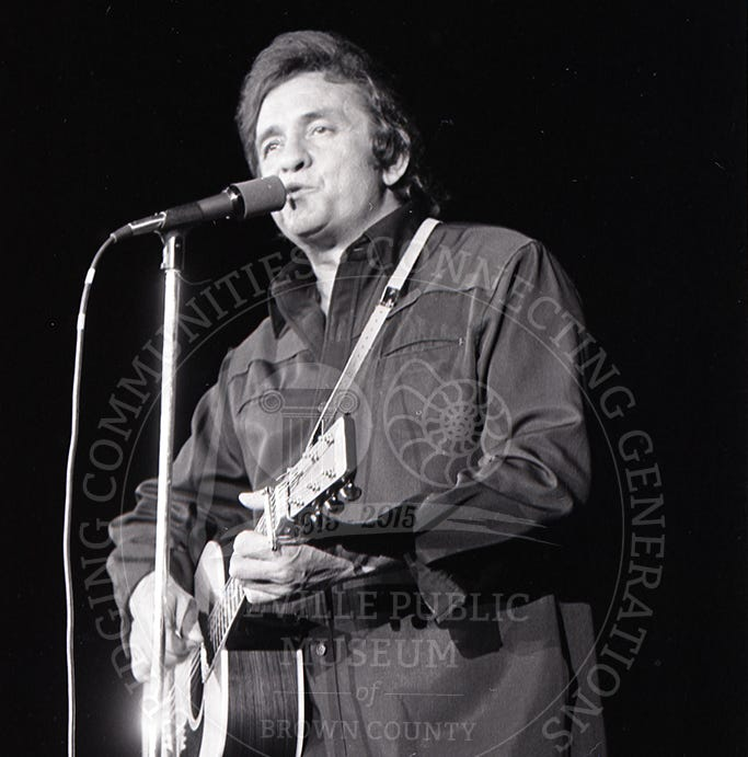 Johnny Cash set 1972 arena record for gross receipts but always kept his tour rider simple