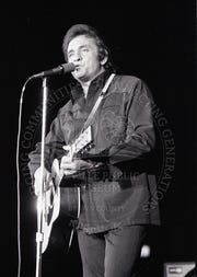 Johnny Cash at the Brown County Veterans Memorial Arena on Feb. 25, 1972.