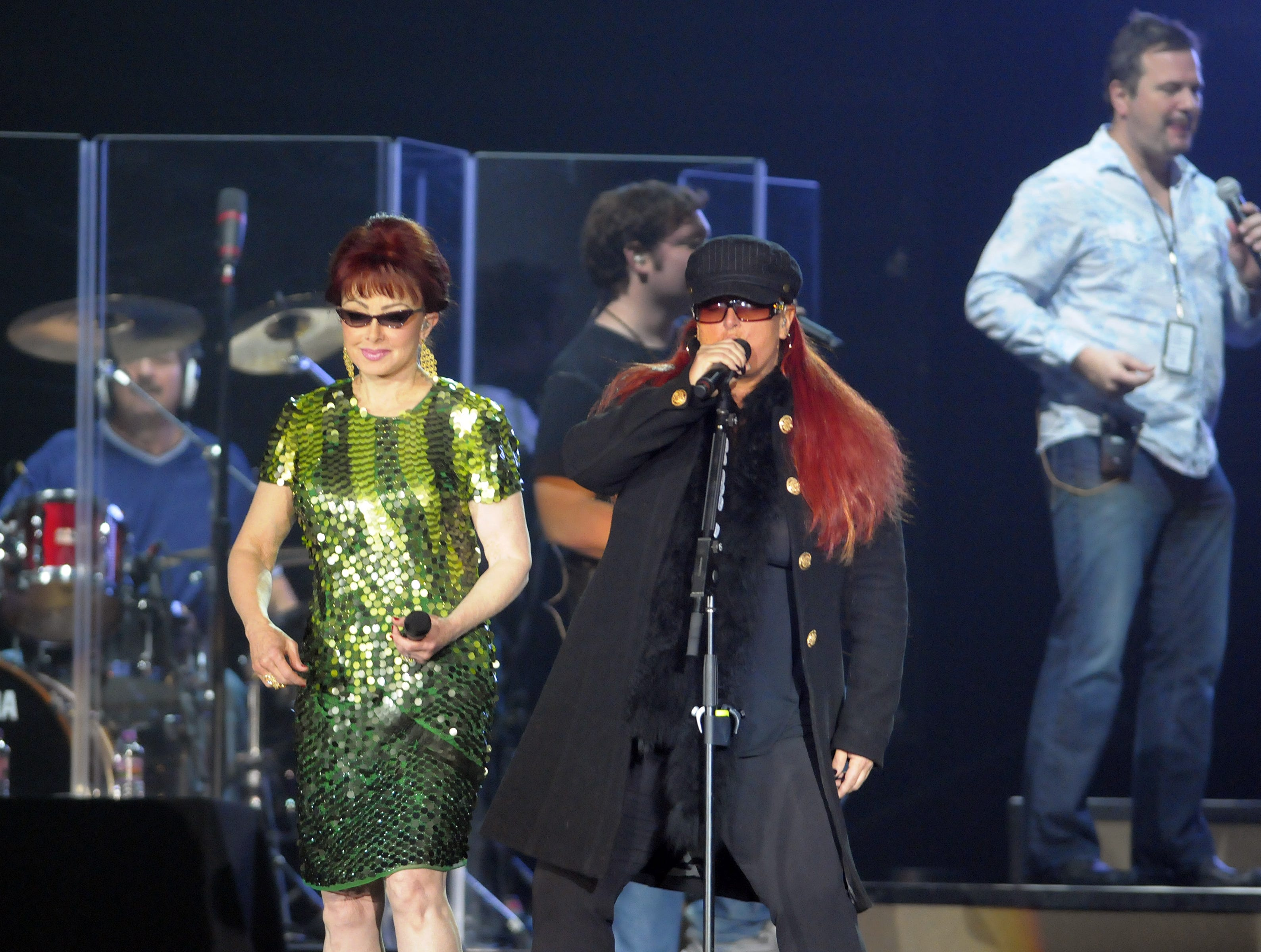 Singer Naomi Judd, left, and Wynonna Judd rehearse in Brown County Veterans Memorial Arena in 2010 to ready for the launch of The Judds: The Last Encore Tour at the Resch Center.