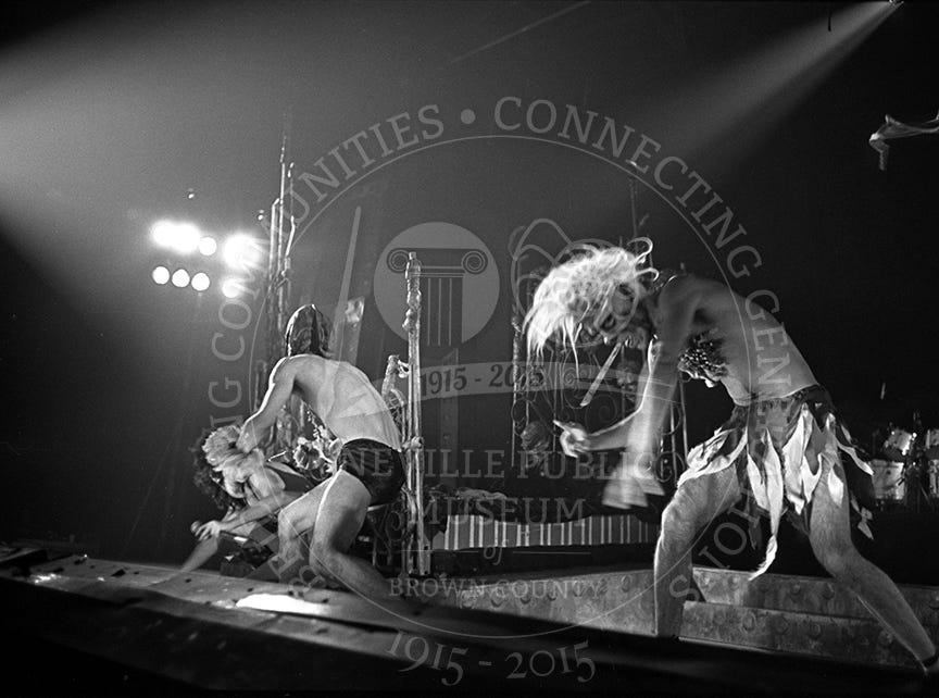 Alice Cooper at the Brown County Veterans Memorial Arena on March 25, 1975.