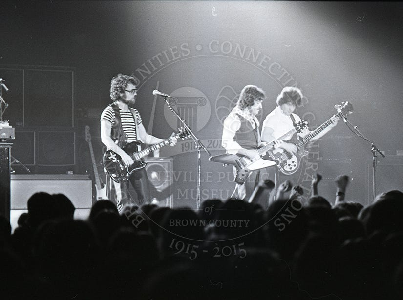 Blue Oyster Cult at the Brown County  Veterans MemorialArena on Oct. 12, 1979