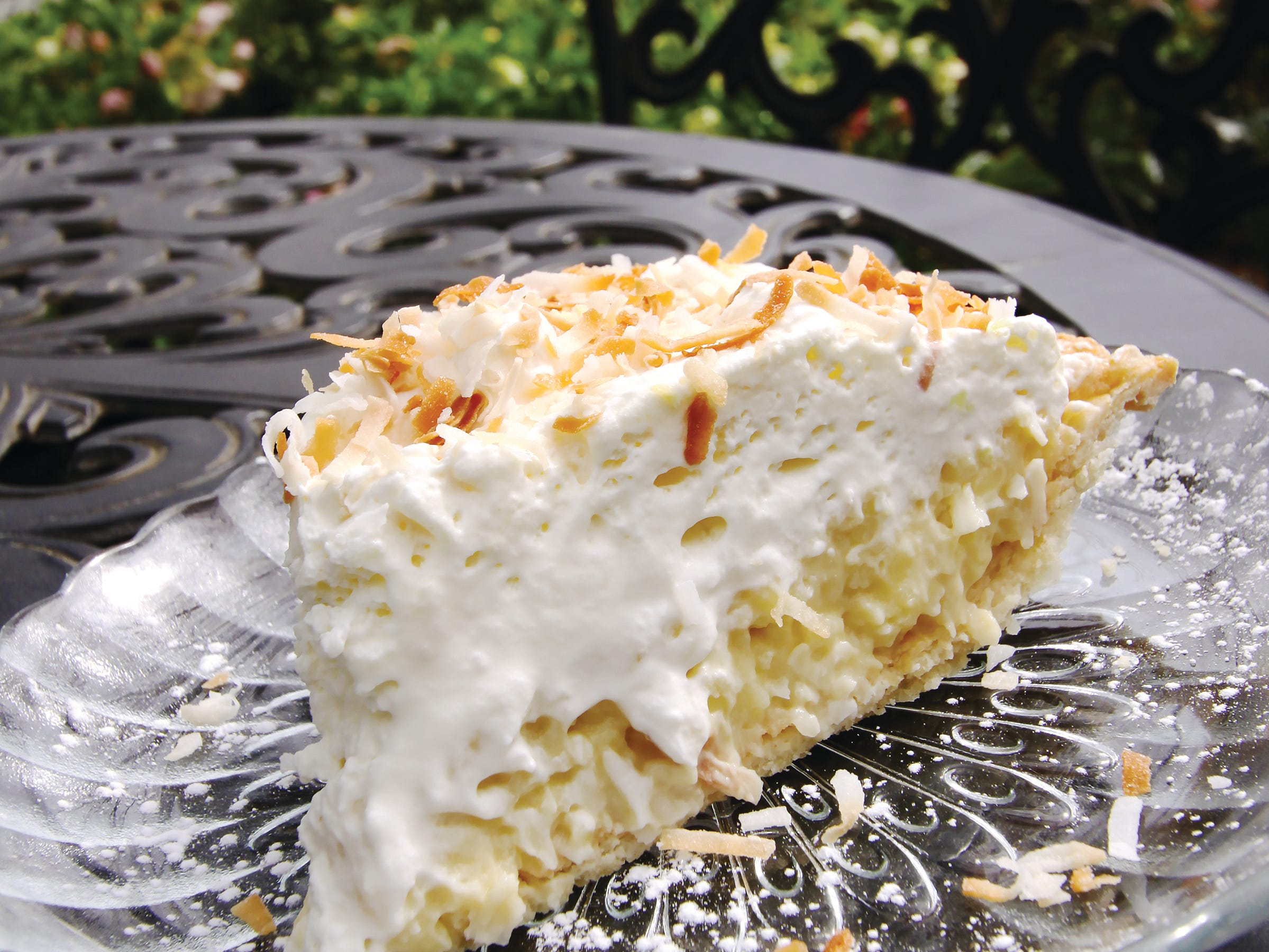 Coconut creme pie from Mary's at Falls Cottage.
