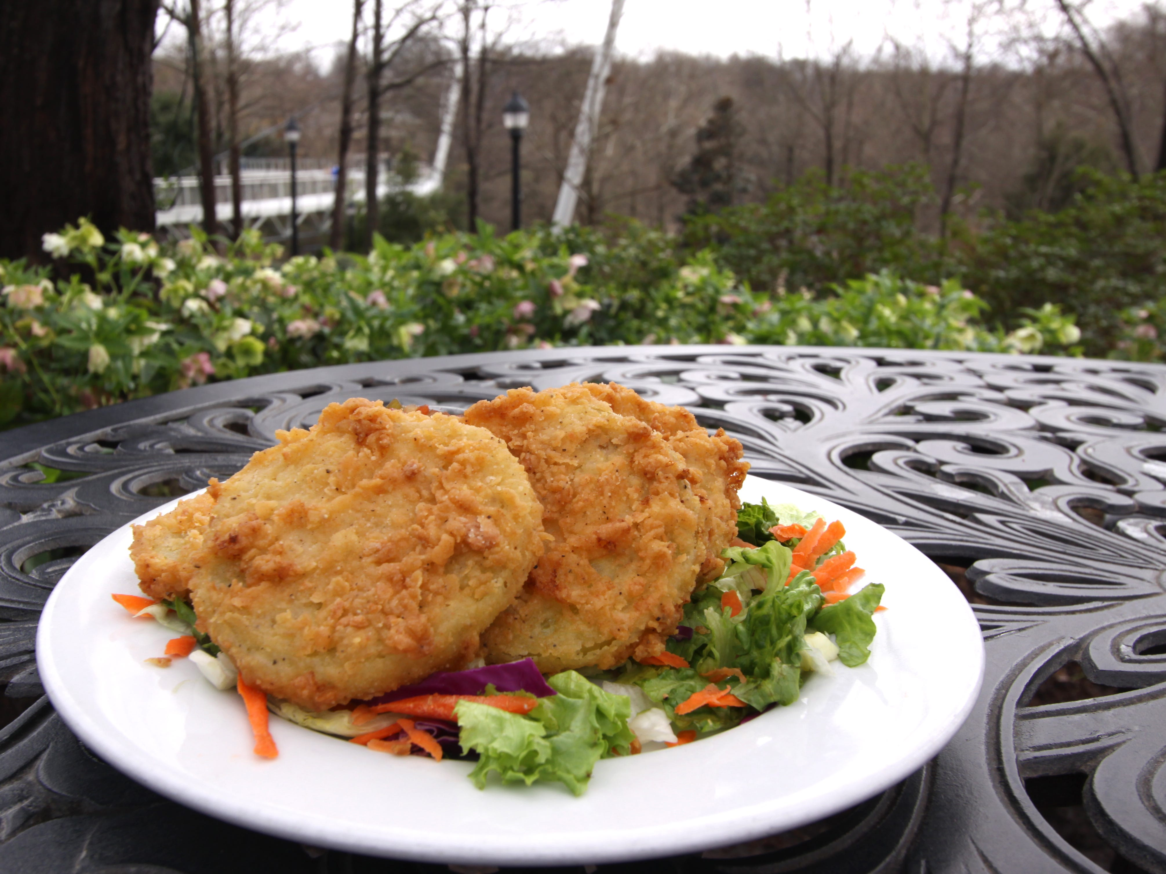 Fried green tomatoes from Mary's at Falls Cottage.