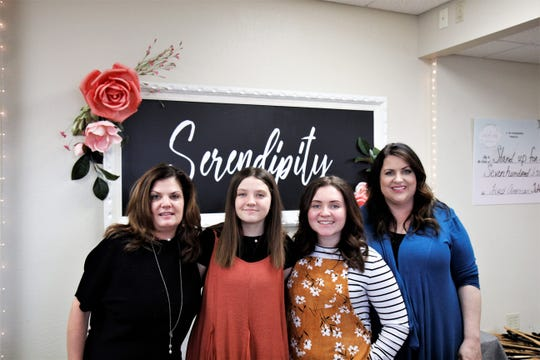 From left to right: Trina Thayer, Kendra Thayer, IsaBella Corn and DeeAnna Corn.
