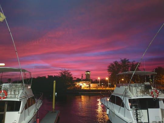 Sunrise at Hagatna Marina on March 14, 2019.