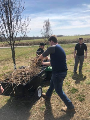 Webster County's football team has been doing small household projects as a fundraiser for the program this spring.