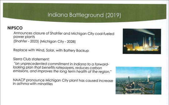 A slide from an Energy Policy Network presentation, delivered in Wyoming by Randy Eminger, the group's executive director, in March 2019.