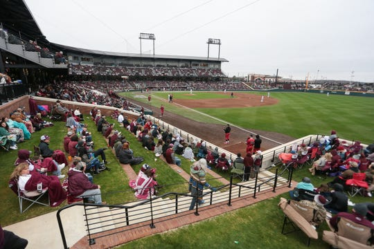 There were 9,157 fans in attendance on a 41-degree day on Feb. 16 for Mississippi State's second game of the season. The program is expecting a lot more during Super Bulldog Weekend. Photo by Keith Warren