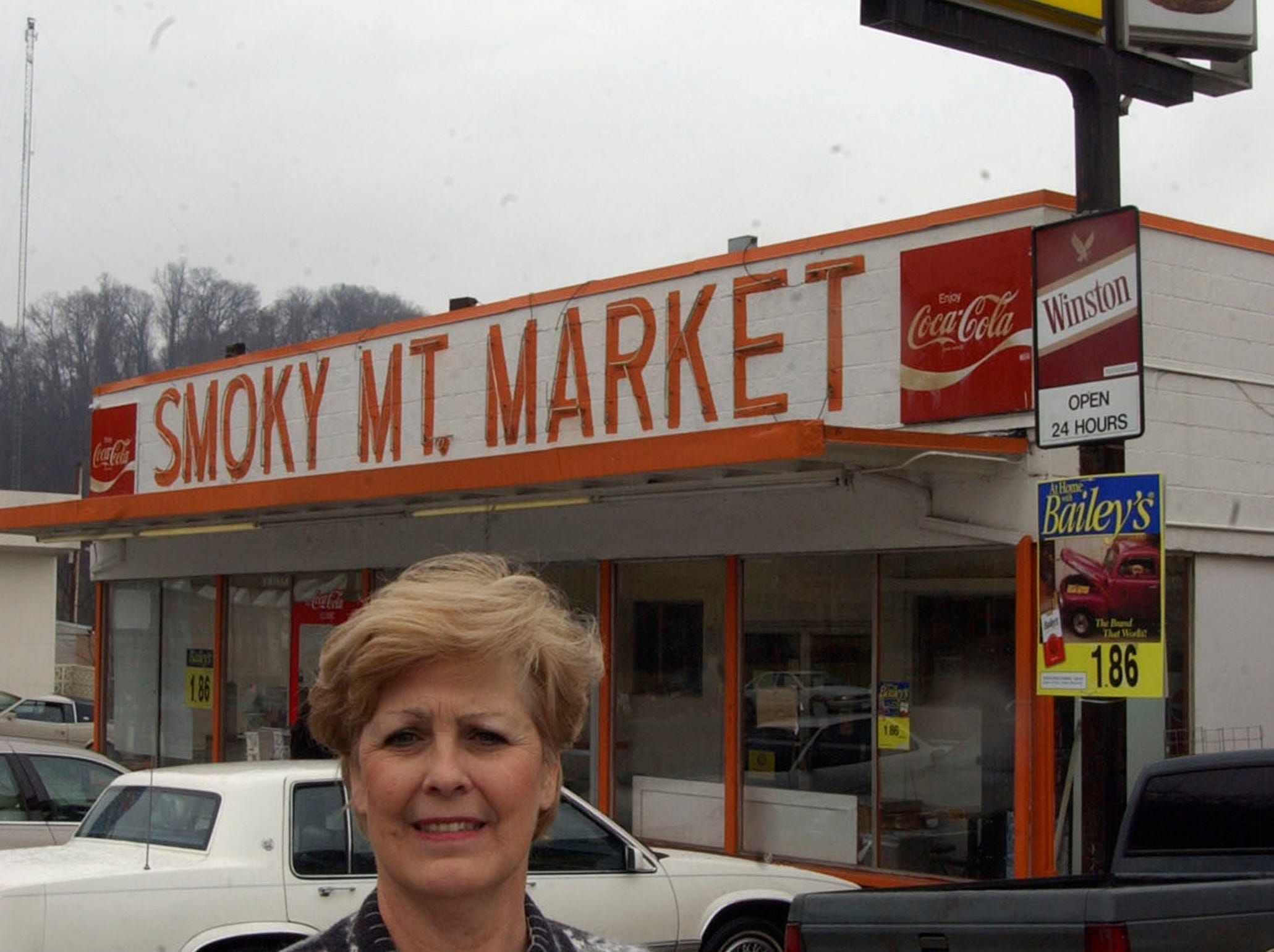 Patt Rushing stands in front of the original Smokey Mountain Market on Chapman Highway in 2001. After almost 30 years in businees, Smoky Mountain Market has closed its doors for good. The original store, known for their hot dogs, was a fixture in Knoxville.