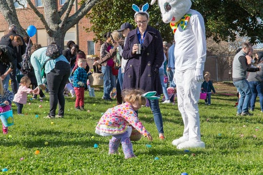 The Easter Bunny, a good friend of local performing group Bam Pow Creations, will be there. March 31, 2018.