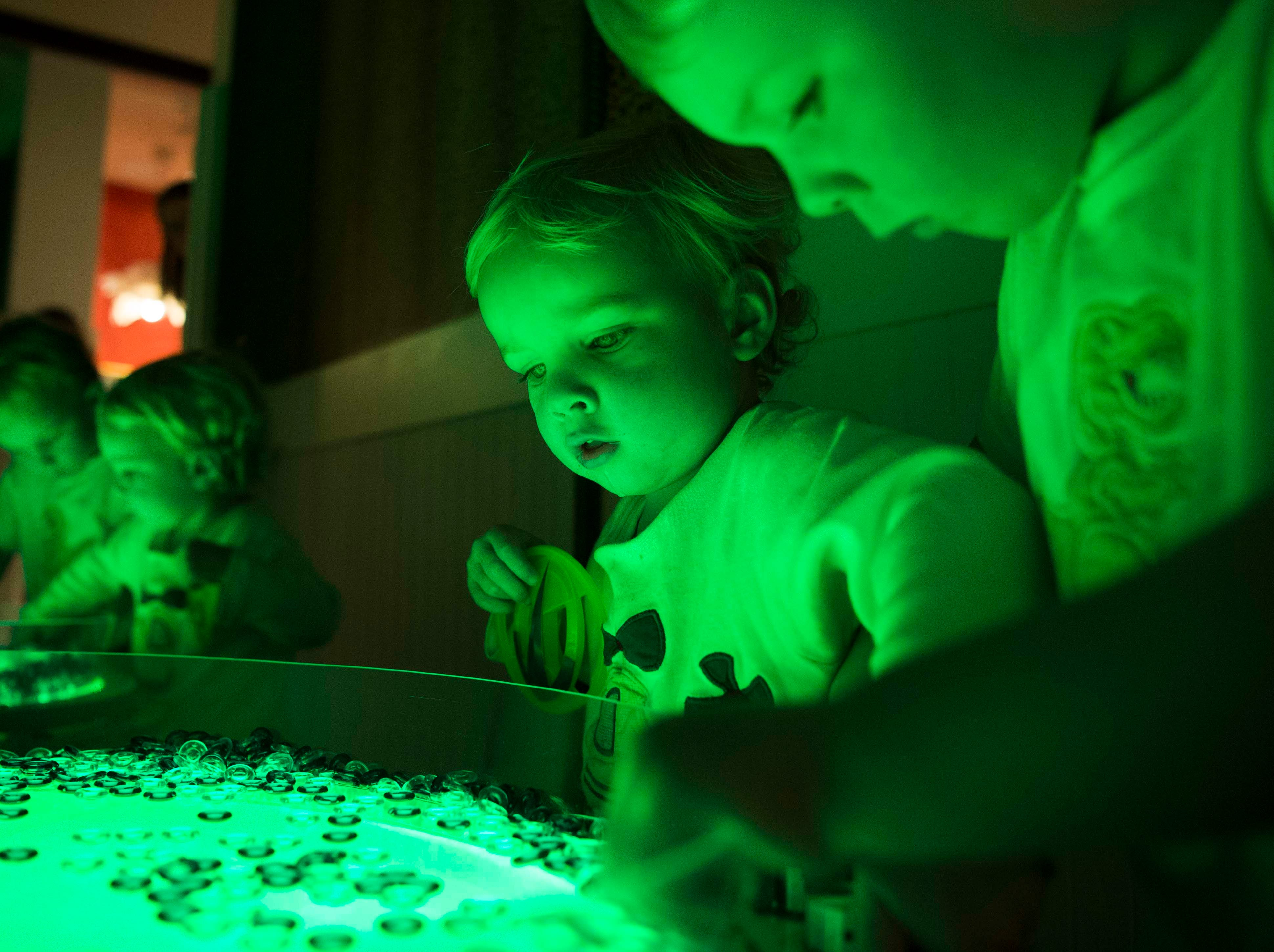 Brothers John Reed, 2, at left, and Henry, 4, play at the new Muse at the Mall at West Town Mall in Knoxville Thursday, April 11, 2019. The Muse offers STEAM (science, technology, engineering, art, math) based play for Knoxville families, and will open to the public on Saturday April 13.