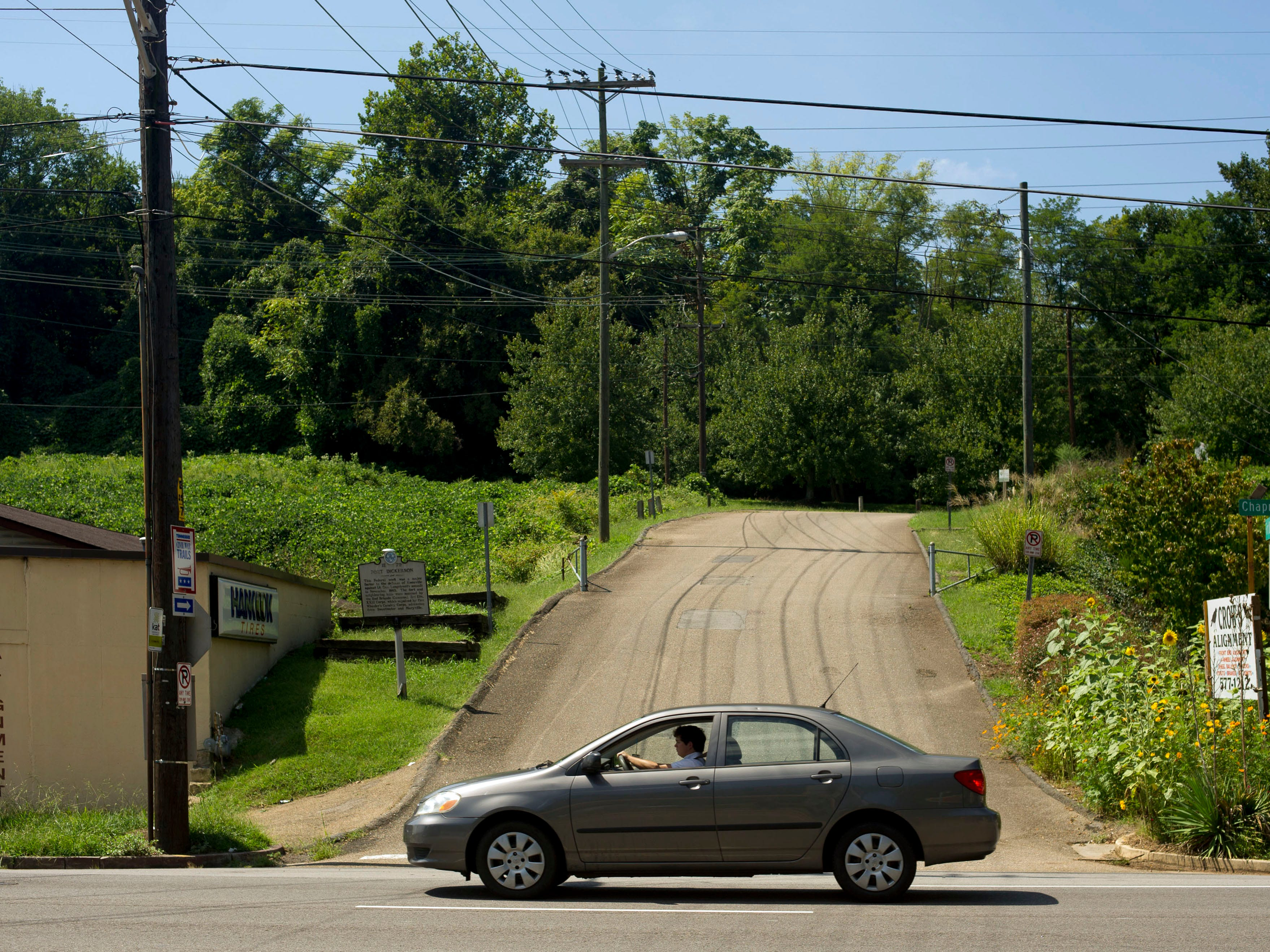 Pictured is the entrance on Chapman Highway to Fort Dickerson Park on Wednesday, September 4, 2013. The City of Knoxville is taking comments on a proposal to realign the entrance. 
