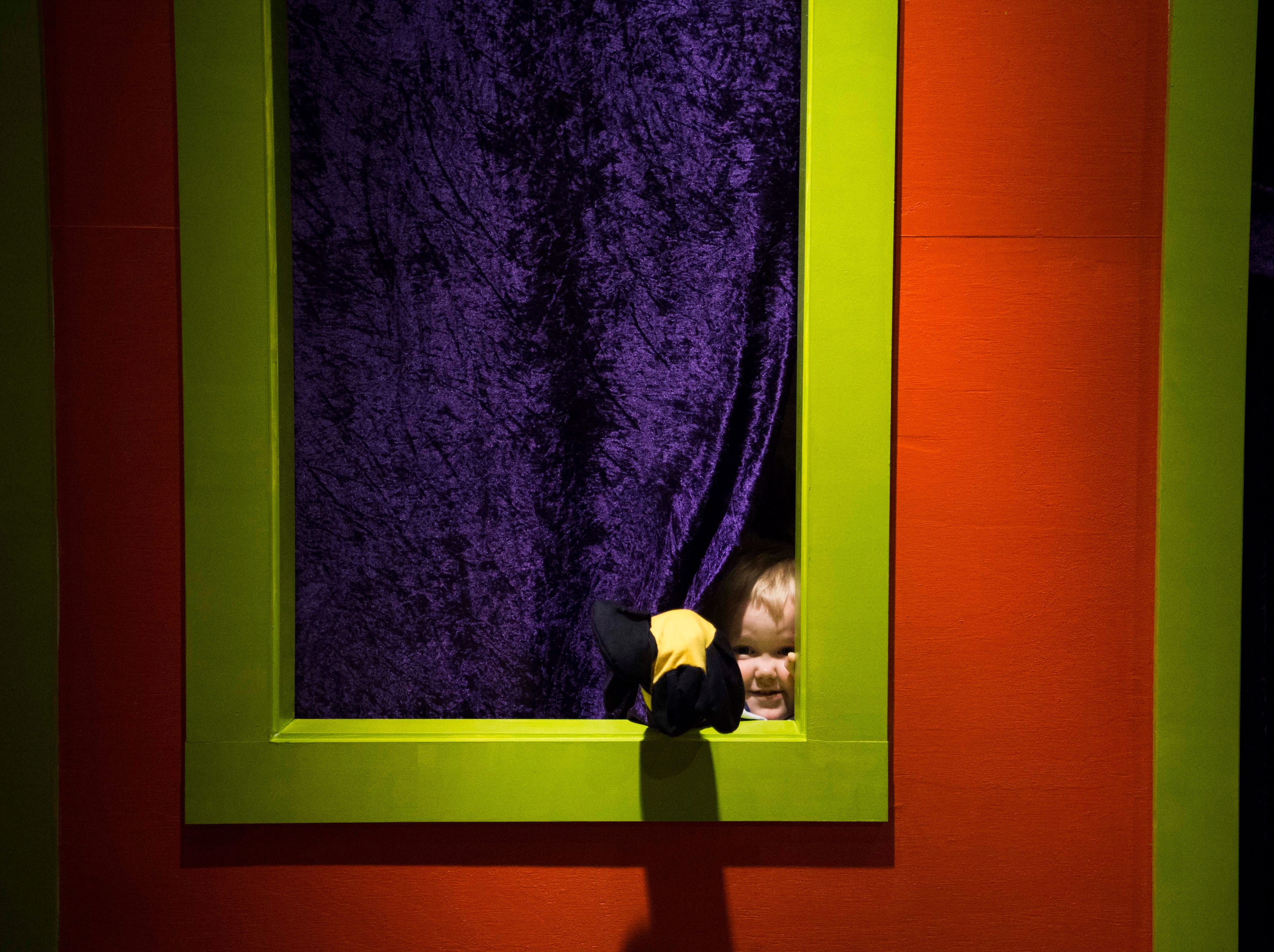 Wheeler Gooch, 3, of Knoxville plays with a puppet at the new Muse at the Mall at West Town Mall in Knoxville Thursday, April 11, 2019. The Muse offers STEAM (science, technology, engineering, art, math) based play for Knoxville families, and will open to the public on Saturday April 13.