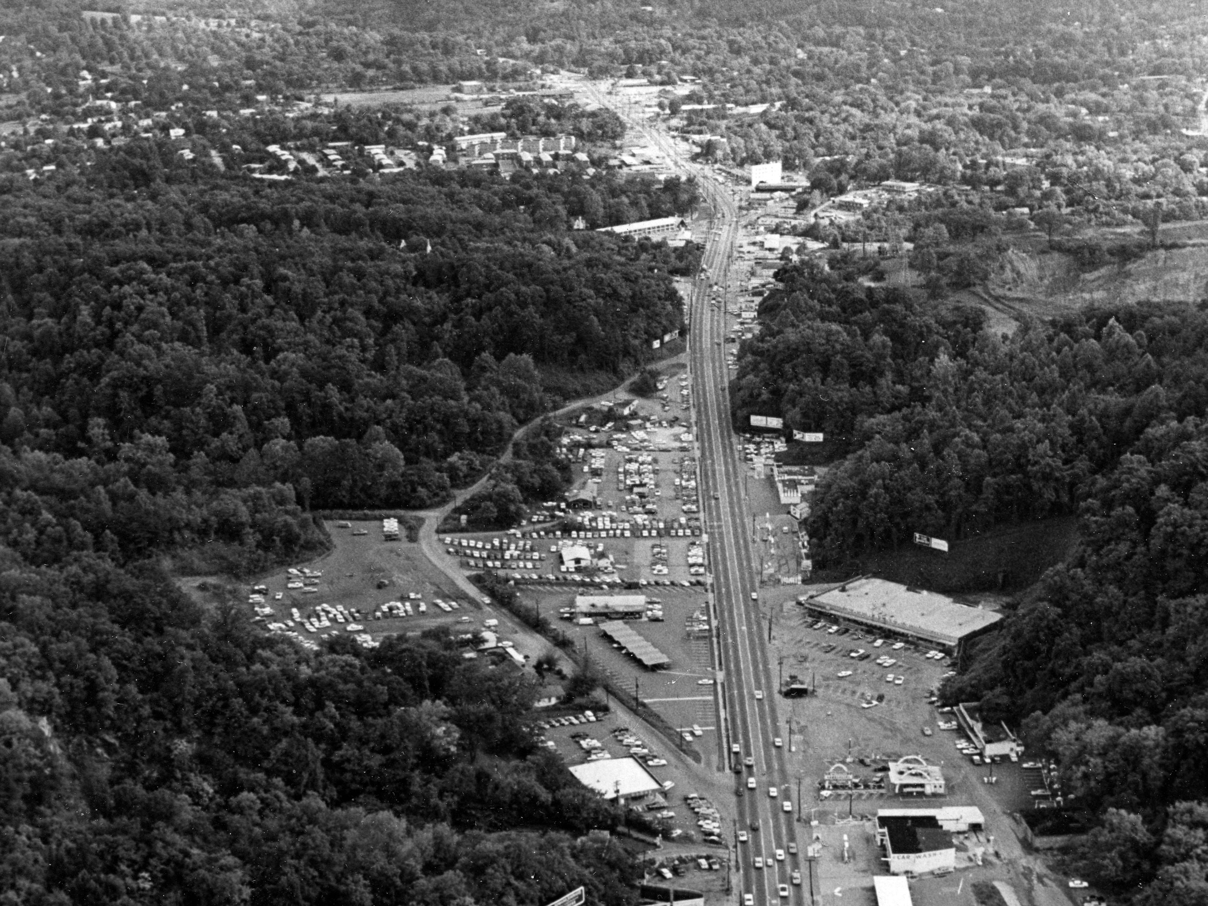 Chapman Highway looking south in 1968