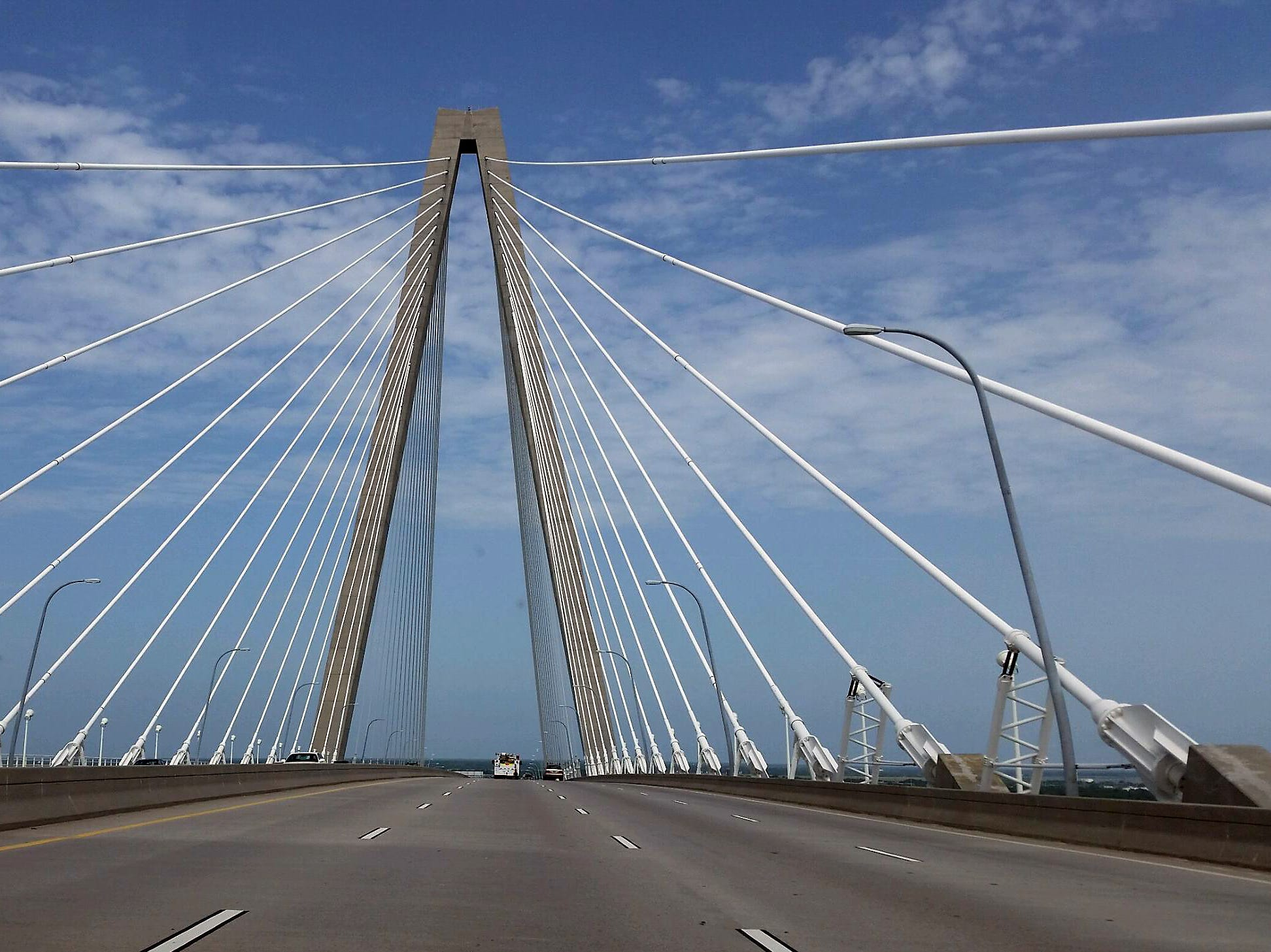 The Arthur Ravenel Jr. Bridge is a cable-stayed bridge over the Cooper River in South Carolina, connecting downtown Charleston to Mount Pleasant. It is named for Republican politician and businessman Arthur Ravenel Jr. of Charleston.