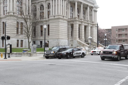 A threat called into the county clerk's office forced the evacuation of the courthouse. The employees and public were allowed to return at 10 a.m. after the building was searched.