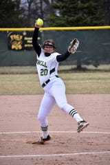 Howell's Molly Carney struck out 15 in a no-hitter against Brighton on Wednesday, April 10, 2019.