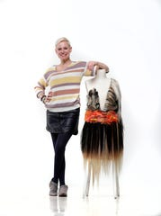 Karen Stout, a master stylist with Joseph Salon and Spa, has created a dress for Kentucky Museum of Art and Craft (KMAC) Couture Fashion Week.  The dress is made of half human hair and half synthetic hair.April 10, 2019