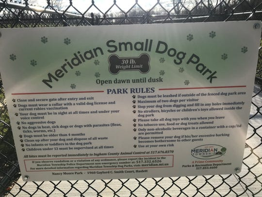 The new small dog park in Meridian Township is expected to open in May 2019. It's one of two in the region dedicated to smaller dogs.
