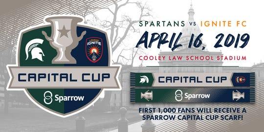 At the bottom right is a rendering of what the scarves will look like for the Capital Cup. The first 1,000 fans in attendance will receive a scarf.