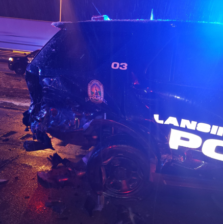 Two Lansing police officers injured after being rear-ended in separate crashes