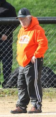 Lucas head softball coach Jim Rader celebrated his 300th career win and 100th win at Lucas last week.