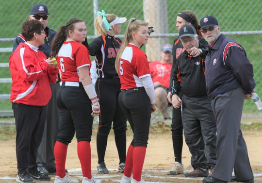 Lucas coach Jim Rader lays out the ground rules before a game against Plymouth last season. The OHSAA announced on Tuesday night the 2020 season is postponed until after May 1.