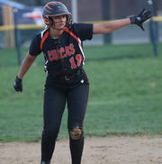 Teams are finally starting to pitch to Lucas' Morgan Spitler and she is making them pay with a .442 averages, 17 RBI and two home runs.