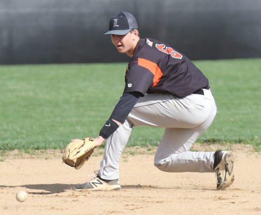 Lucas' Logan Niswander brings a big bat and a big arm to the Richland County team.