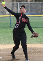 Lucas' Frankie Depue helped the Lady Cubs clinch at least a share of the Mid-Buckeye Conference championship with a 9-1 win over Loudonville.