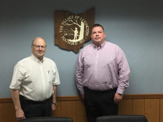 Lexington mayor Gene Parkison, left, and village administrative director Andy Smallstey. Parkison said the residents should get the credit for the village being ranked the 32nd safest small town in America by SafeWise.