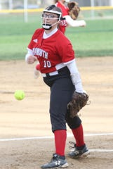 Plymouth's Ariel Plank takes over as the team's No. 1 pitcher this season.