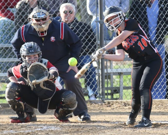 Lucas' Kali Nolen led the way for the Lady Cubs with three hits in an 8-5 loss to Plymouth on Wednesday.