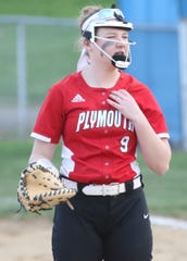 Plymouth's Morgan Chaffins drilled a 2-run home run to give the Lady Big Red the walkoff win over Monroeville on Wednesday.