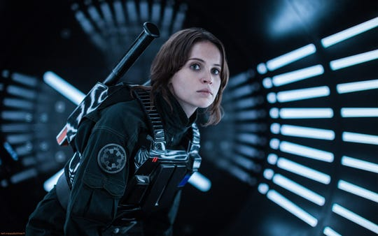 "Felicity Jones has a space jones in ""Rogue One: A Star Wars Story."""