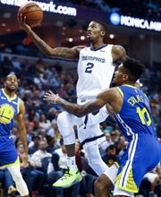 Grizzlies guard Delon Wright averaged 12.2 points in 26 games with the Grizzlies last season.