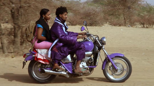 """Call it """"'Purple Rain' in the Sahara"""": Nigerian """"desert rock"""" musician Mbou Moctar stars in """"Rain the Color of Blue with a Little Red in It,"""" which screens April 25 at The CMPLX, 2234 Lamar."""