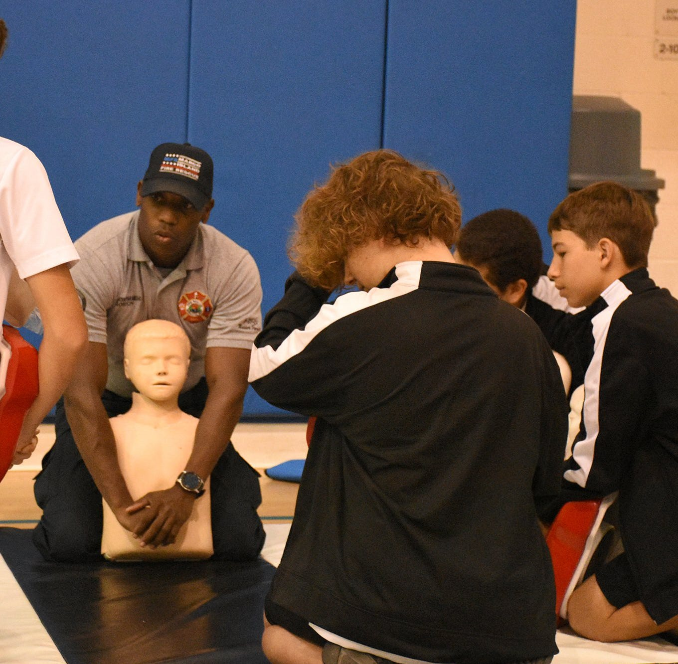 MIFD teaches CPR to Charter Middle students